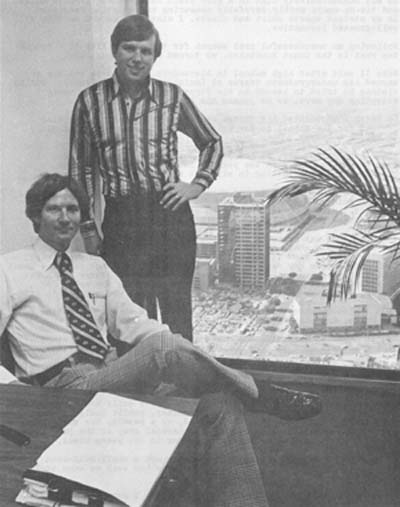 Mike Masterson II (seated) and I in number 2's office above the Superdome