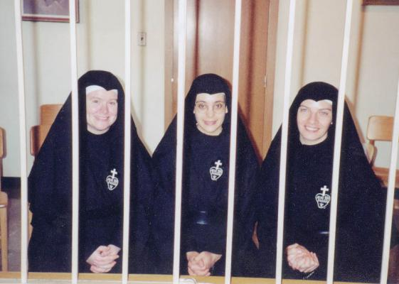 Pionists Sisters In Visiting Parlor Sister Marie Michelle Dziubela Right
