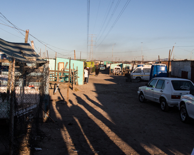 A township street in South Africa. J. Lester Feder